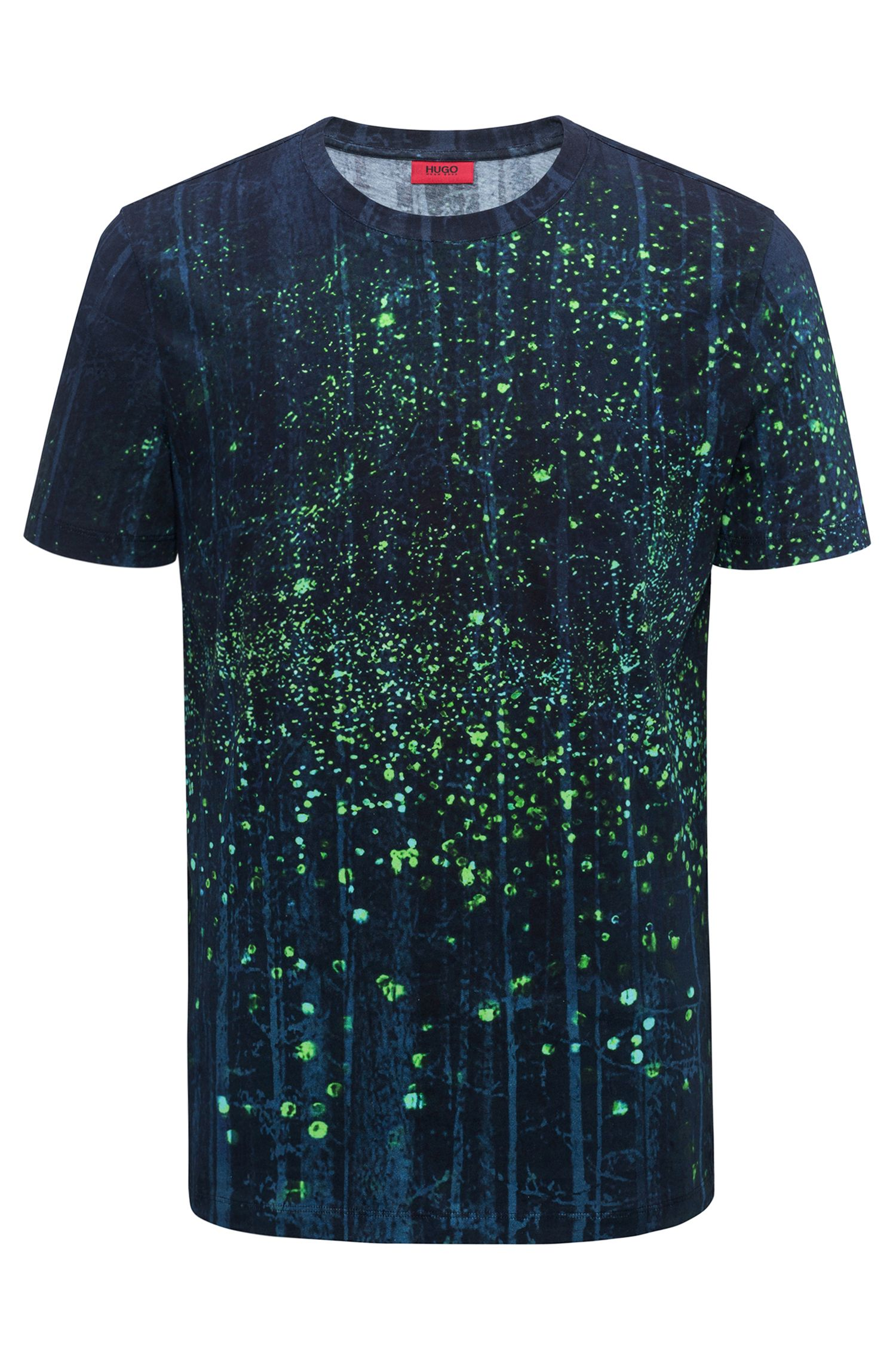 Relaxed-fit paint-splatter cotton T-shirt