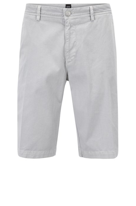 Sale Choice BOSS Hugo Boss Pigment-dyed chino shorts in a regular fit 32R Open Blue Clearance Cheapest Price Fast Delivery Cheap Online Footlocker Finishline Sale Online 1KmS5