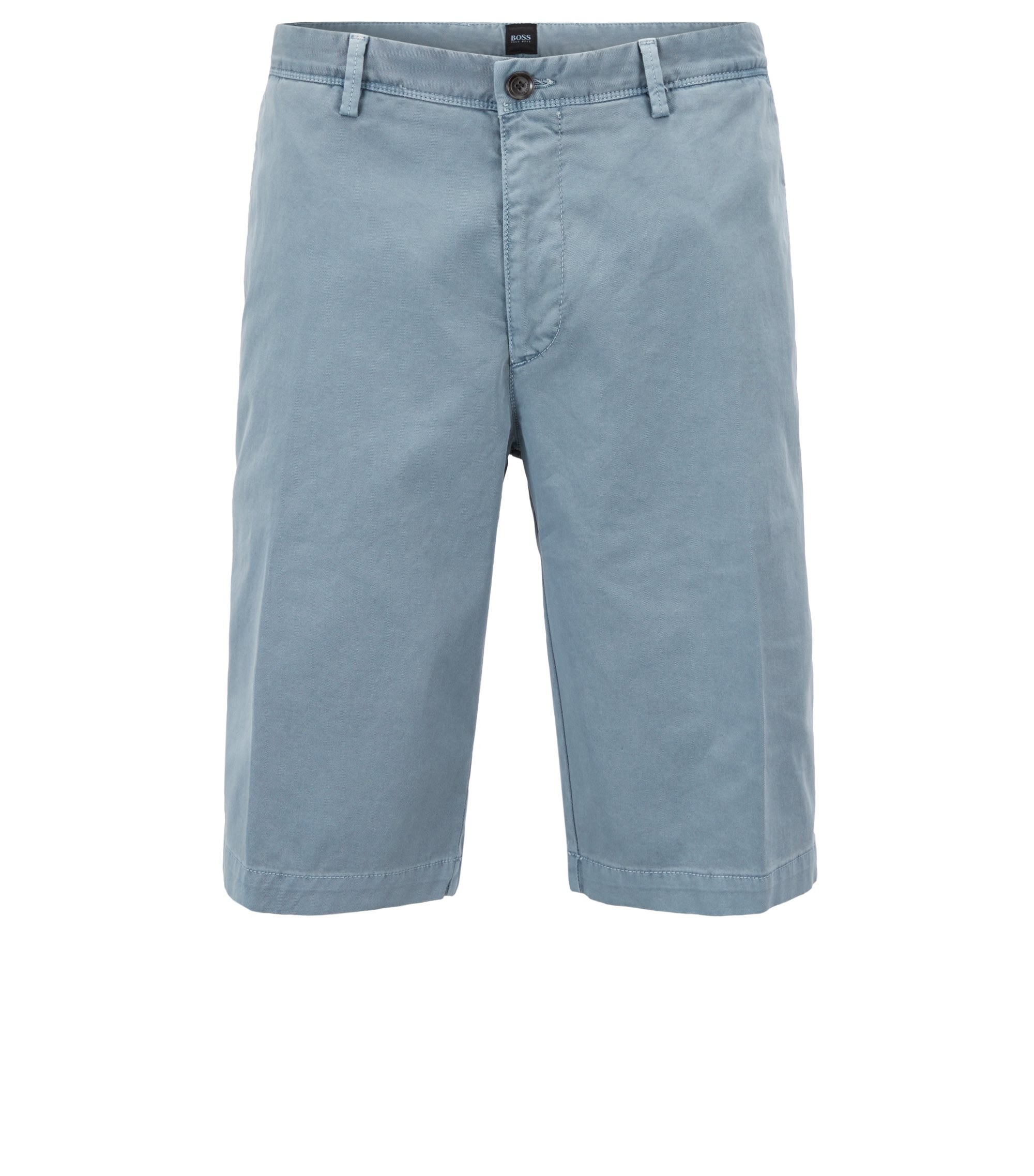 Pigment-dyed chino shorts in a regular fit, Light Blue