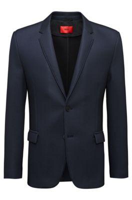 Extra slim-fit blazer met notch-revers, Zwart