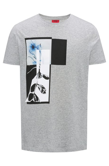 Relaxed-fit T-shirt in cotton with abstract print HUGO BOSS Buy Cheap Clearance Store Store Shop For Cheap Price D6FPo1