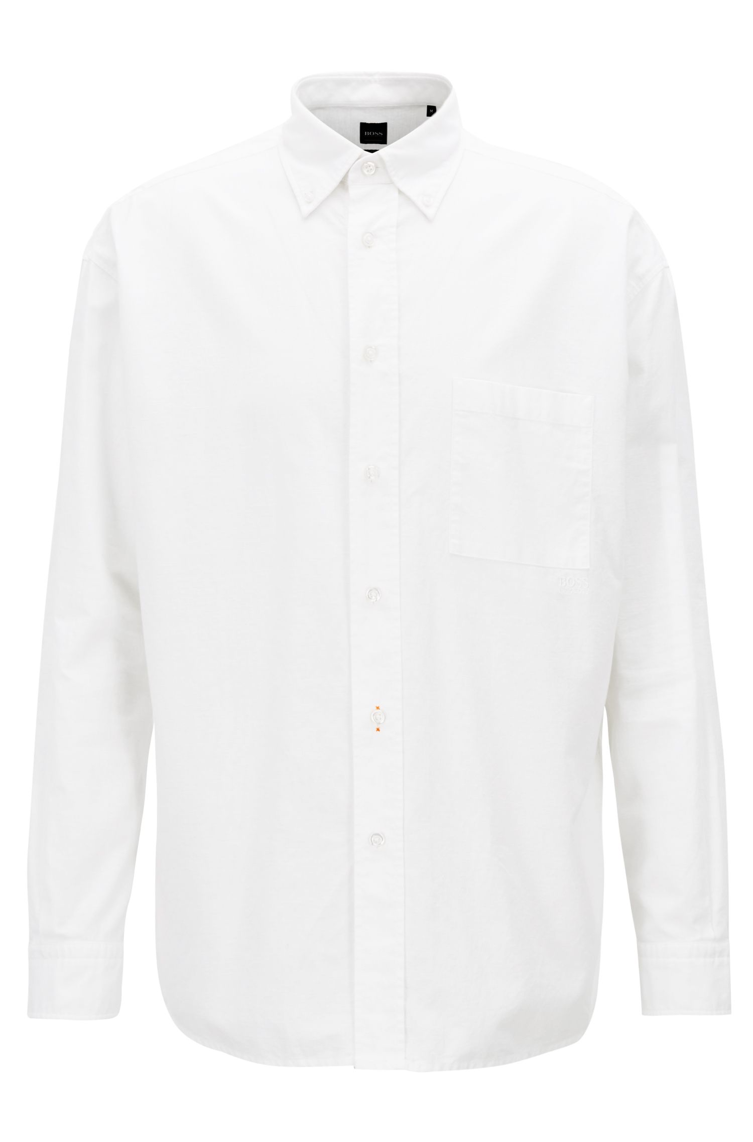 Camicia stile oxford relaxed fit con colletto button-down