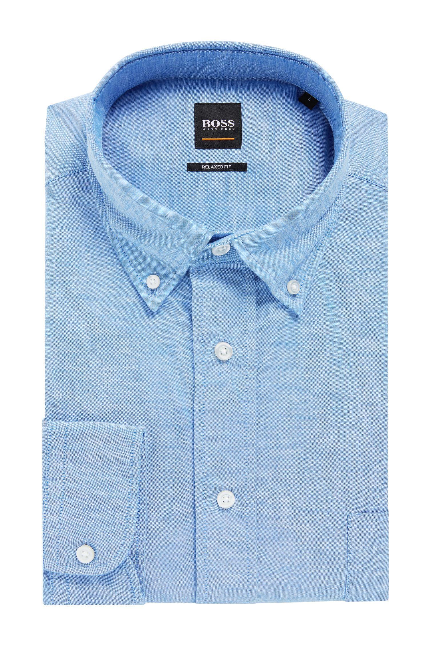 Relaxed-fit Oxfordoverhemd met buttondownkraag, Lichtblauw