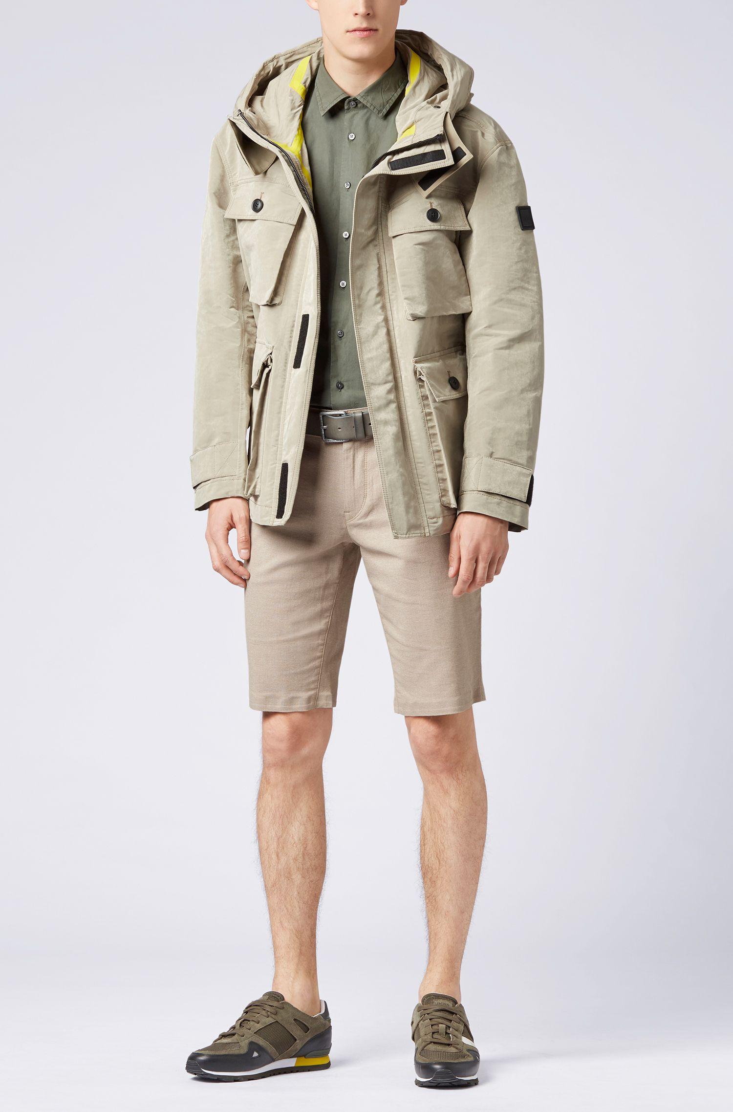 Hugo Boss - Slim-fit shirt in paper-touch cotton poplin - 2