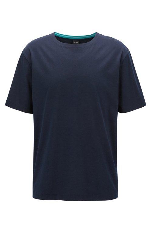 Hugo Boss - Mercerised-cotton T-shirt with contrast collar band - 1