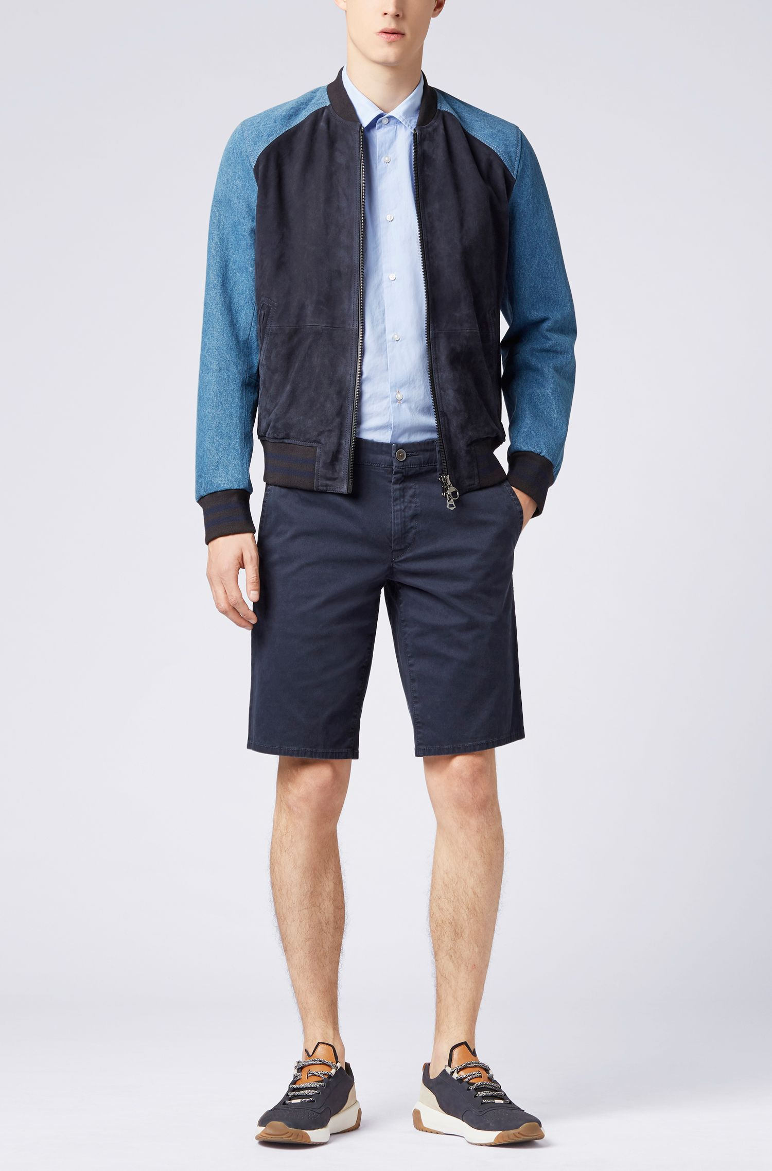 Hugo Boss - Regular-fit washed cotton shirt with dobby contrasts - 2