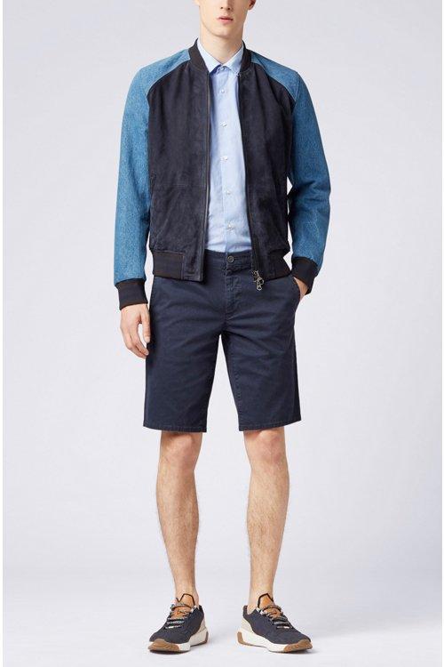 Hugo Boss - Regular-Fit Kurzarm-Hemd aus Baumwolle mit strukturierten Kontrast-Details - 2