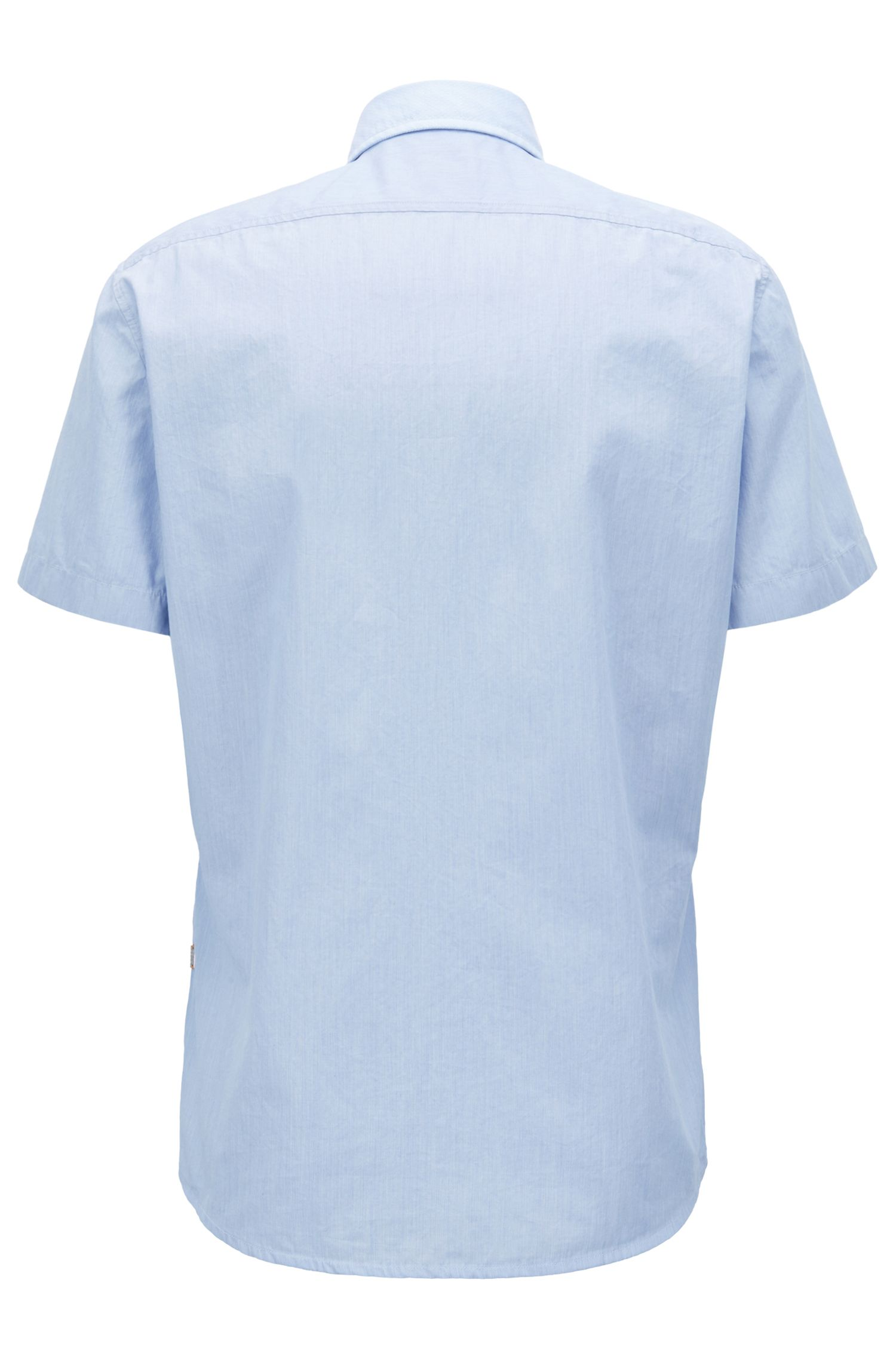 Hugo Boss - Regular-fit washed cotton shirt with dobby contrasts - 3