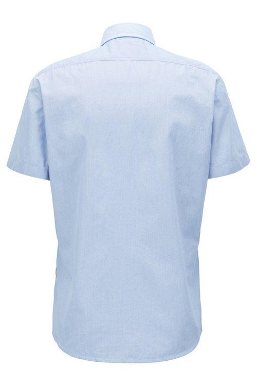 Hugo Boss - Regular-Fit Kurzarm-Hemd aus Baumwolle mit strukturierten Kontrast-Details - 3