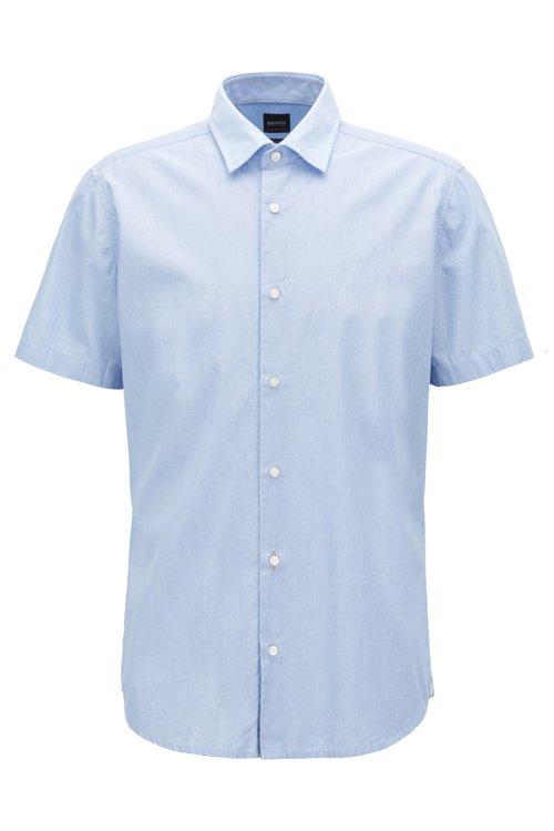 Hugo Boss - Regular-Fit Kurzarm-Hemd aus Baumwolle mit strukturierten Kontrast-Details - 1