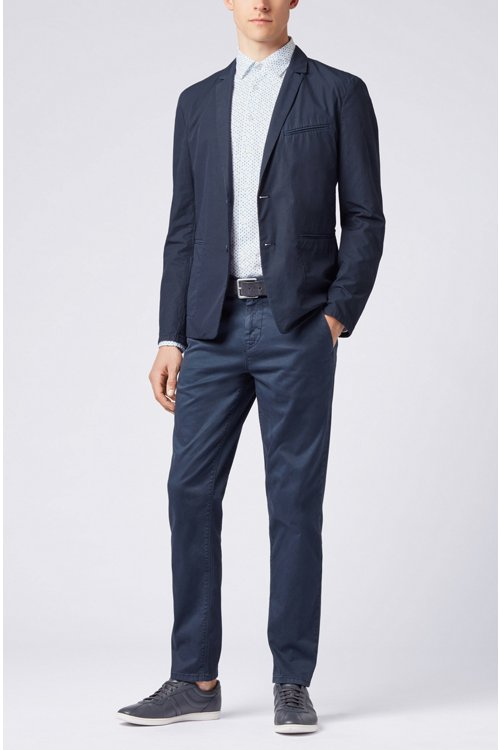 Hugo Boss - Slim-fit shirt in stretch cotton with mini-geometric print - 2