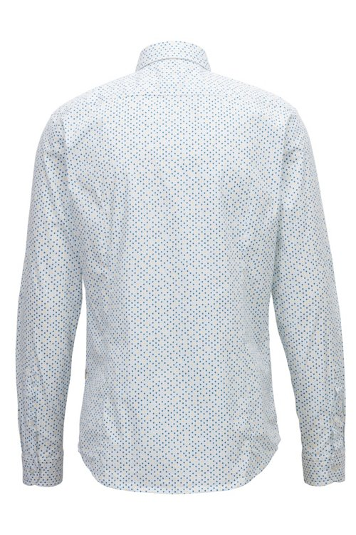 Hugo Boss - Slim-fit shirt in stretch cotton with mini-geometric print - 3