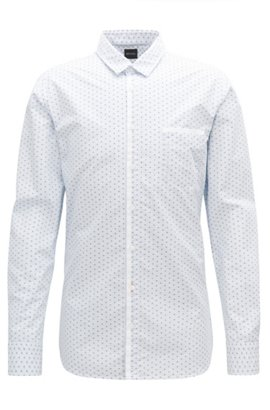 5a5b90d3abd Slim-fit shirt in striped cotton with Oxford contrasts