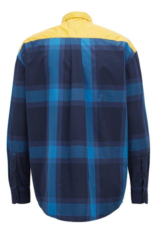 Hugo Boss - Kariertes Relaxed-Fit Hemd aus reiner Baumwolle mit gummiertem Einsatz - 3