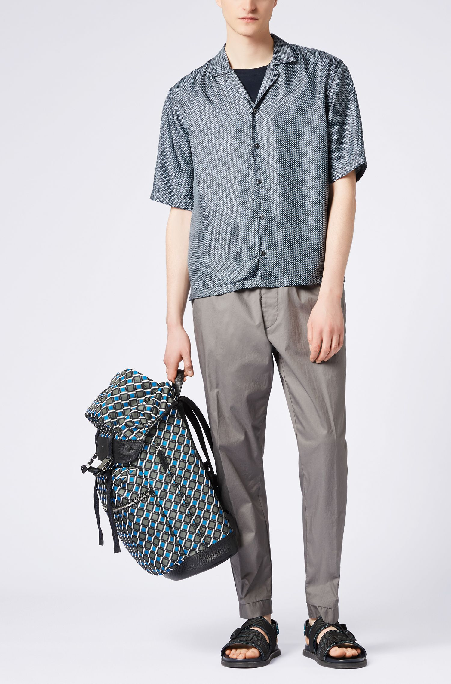 Relaxed-fit stretch-cotton chinos with drawstring waist