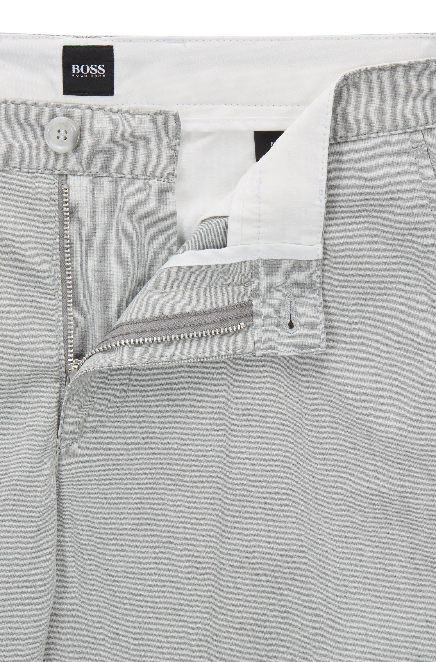 Chino Regular Fit en coton italien stretch chiné