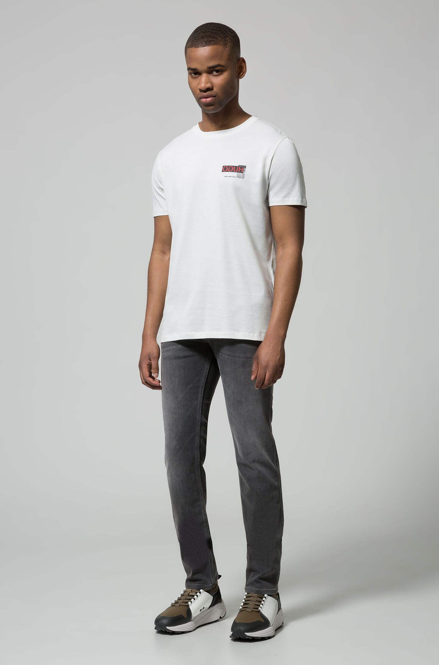 Hugo Boss - Oversized-fit T-shirt with reverse logo print - 2