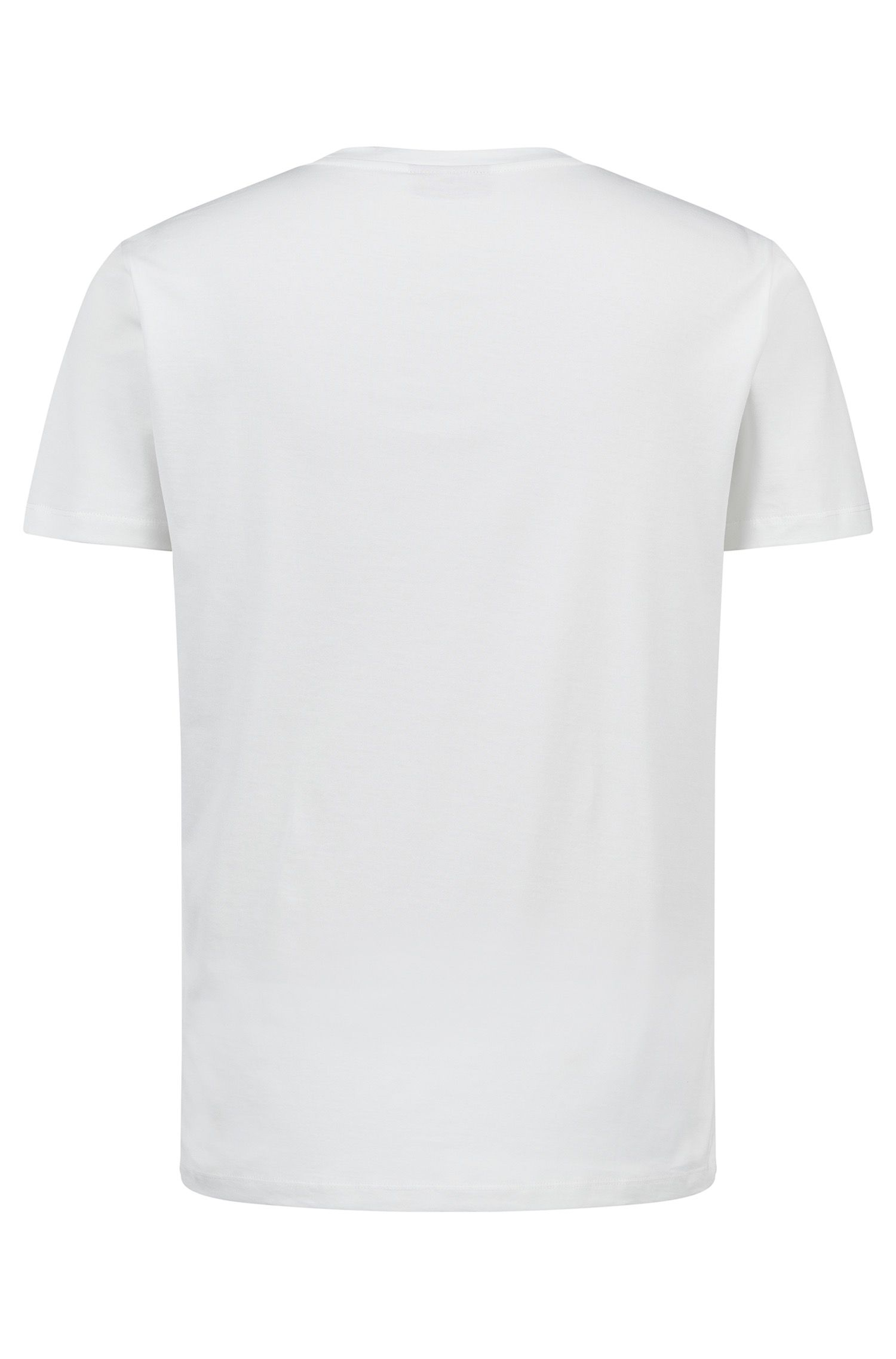 Hugo Boss - Oversized-fit T-shirt with reverse logo print - 4