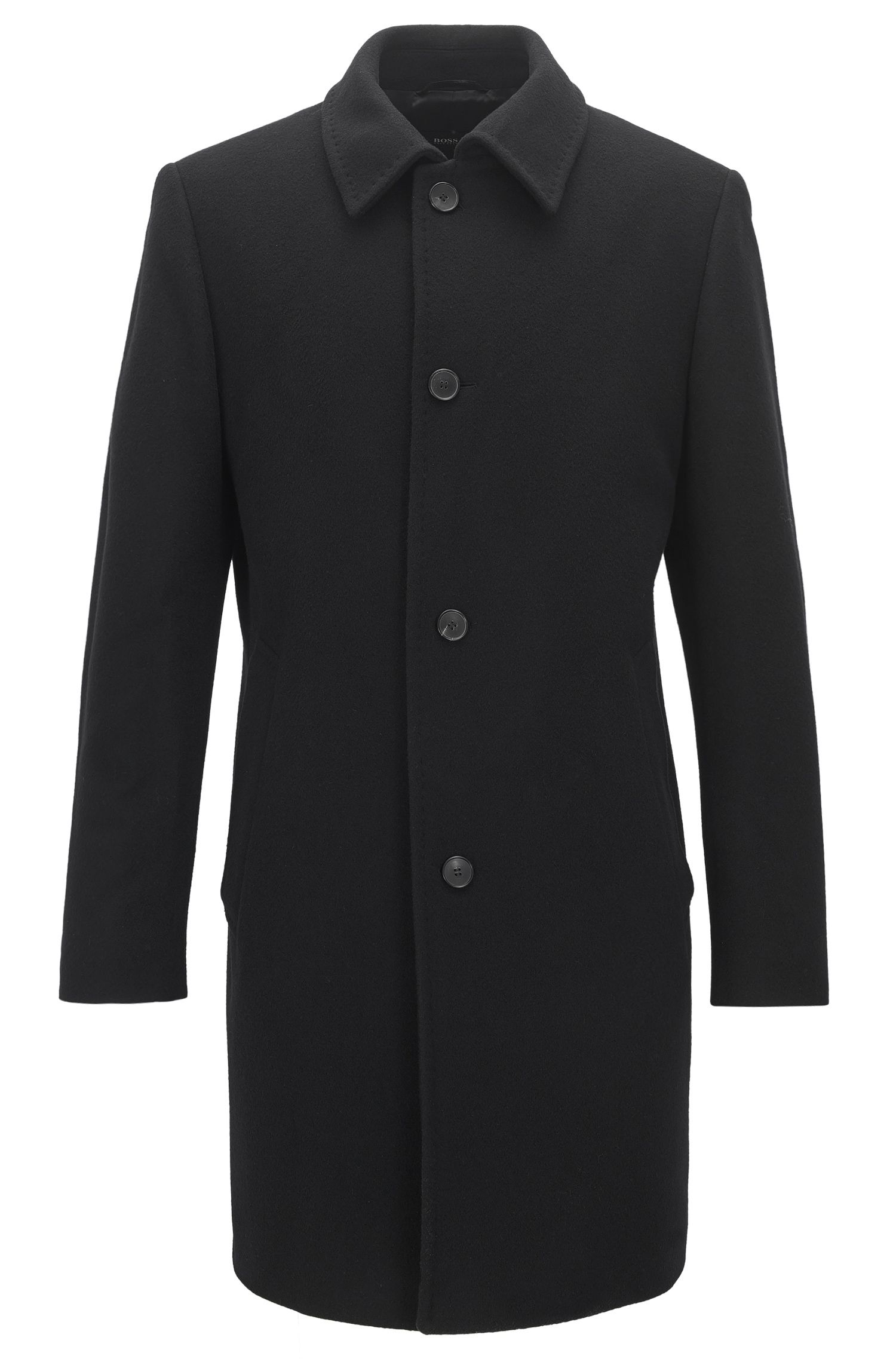 Mantel aus Woll-Mix mit Knopfleiste