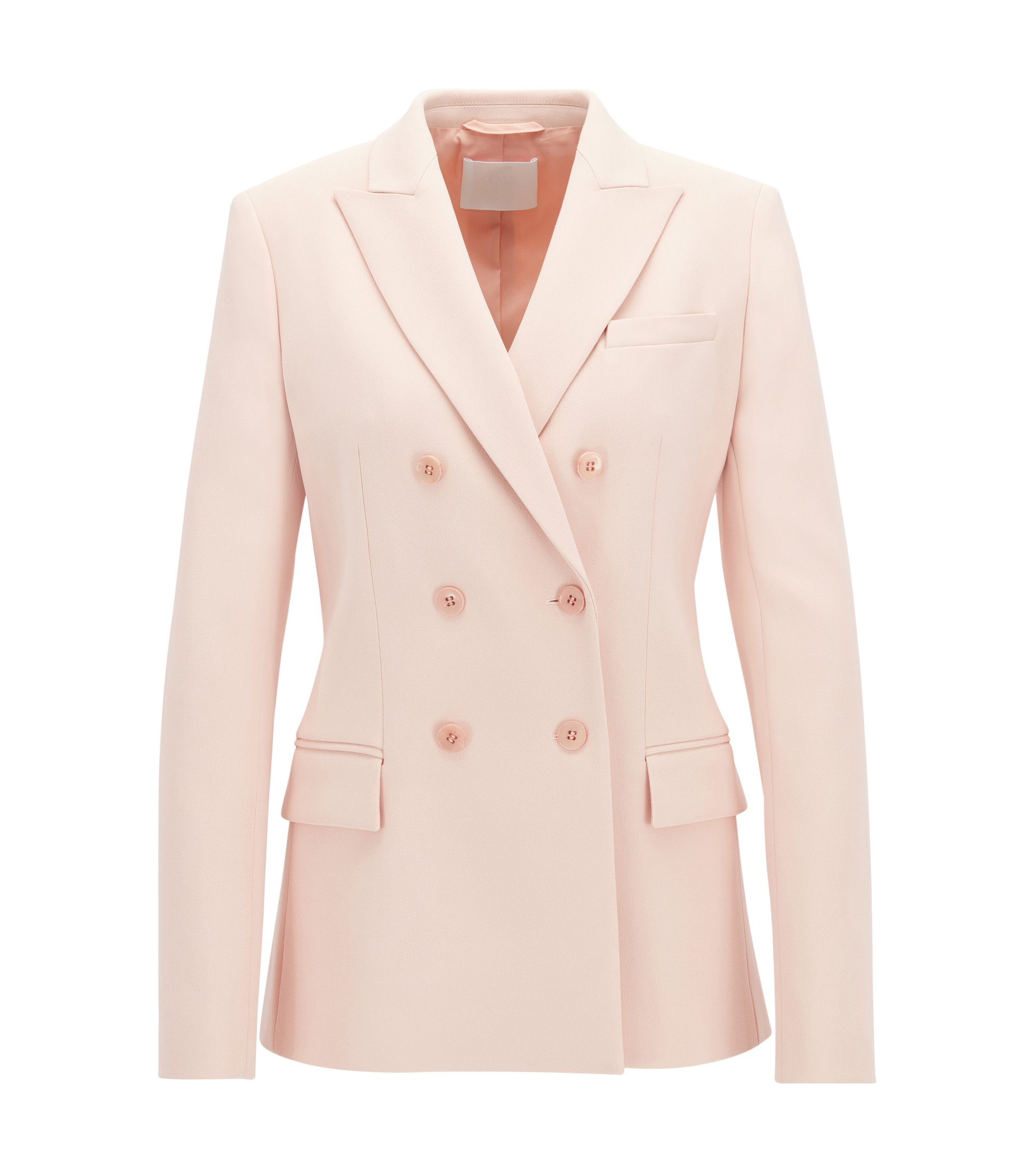Gallery Collection relaxed-fit double-breasted blazer , light pink