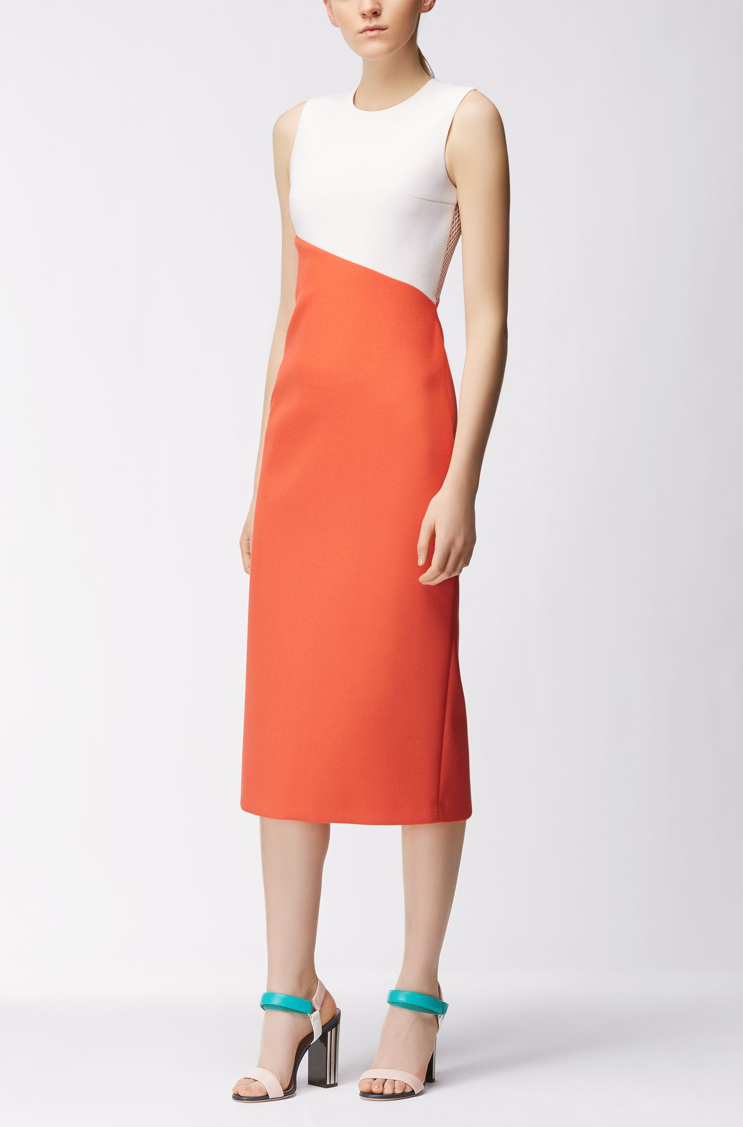 Gallery Collection midi dress in bonded crêpe