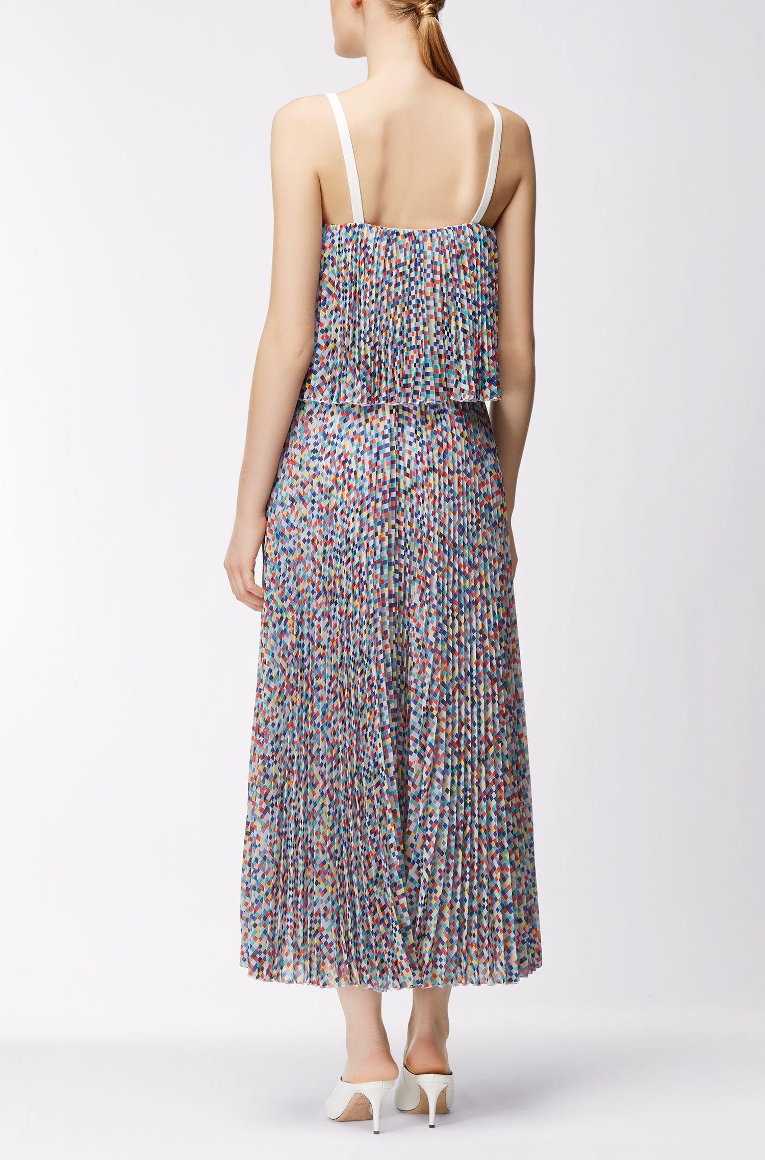 Gelaagde jurk met plissérok uit de Gallery Collectie