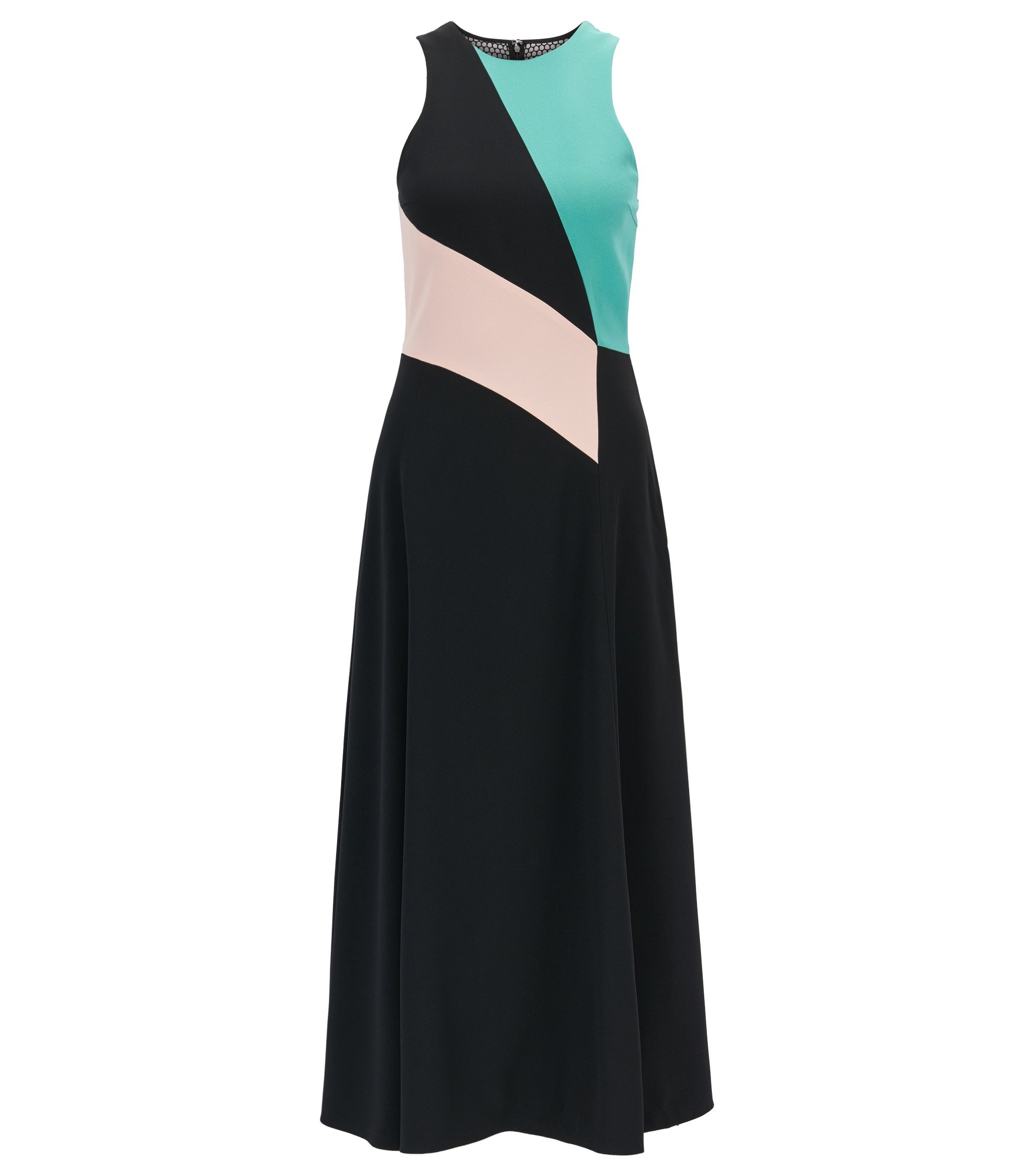 Robe color block Collection Gallery en crêpe envers satin, Fantaisie
