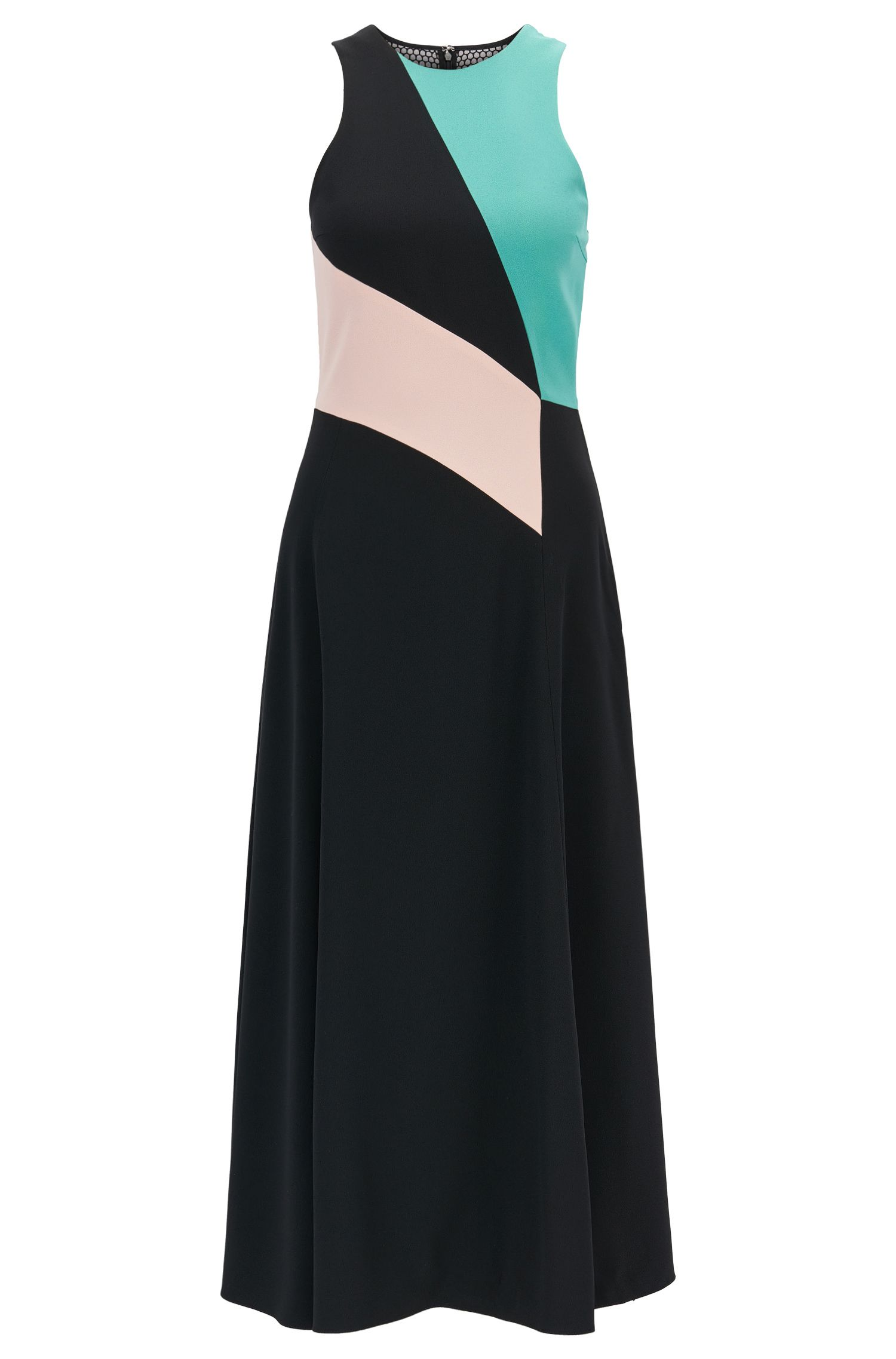 Robe color block Collection Gallery en crêpe envers satin
