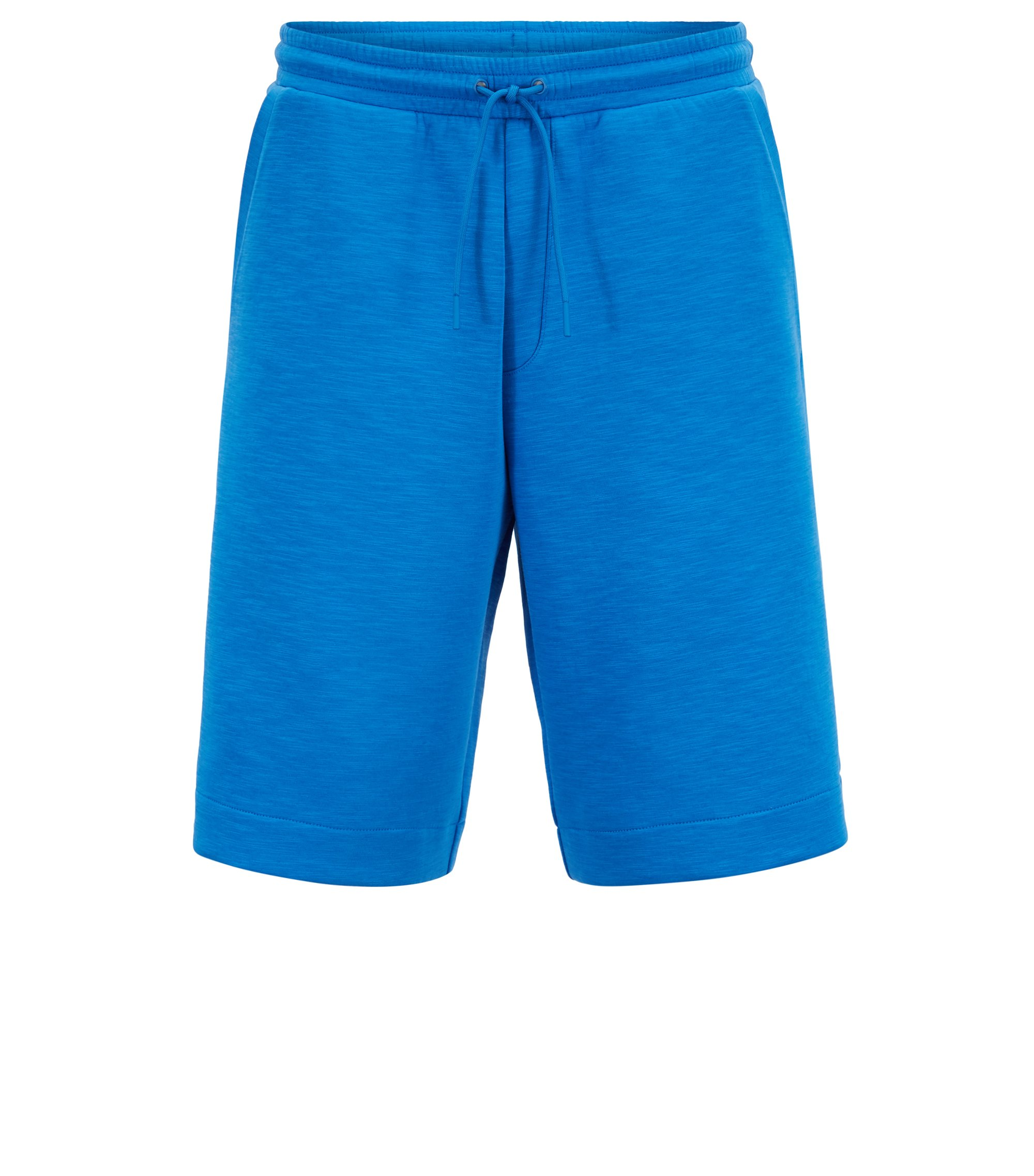 Relaxed-Fit Shorts aus strukturierter Stretch-Baumwolle, Blau