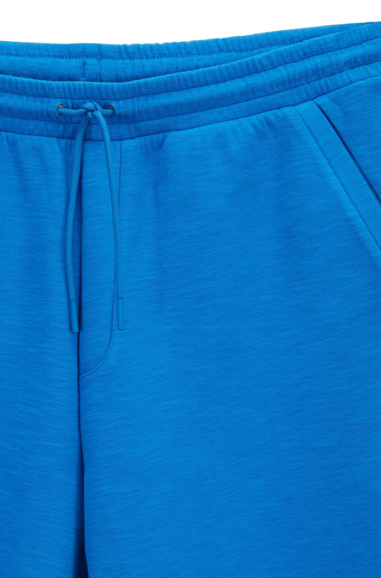 Short Relaxed Fit en coton stretch mélangé flammé, Bleu