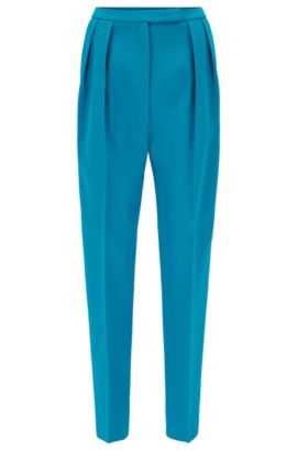 Gallery Collection relaxed-fit trousers in bonded crêpe, Blue