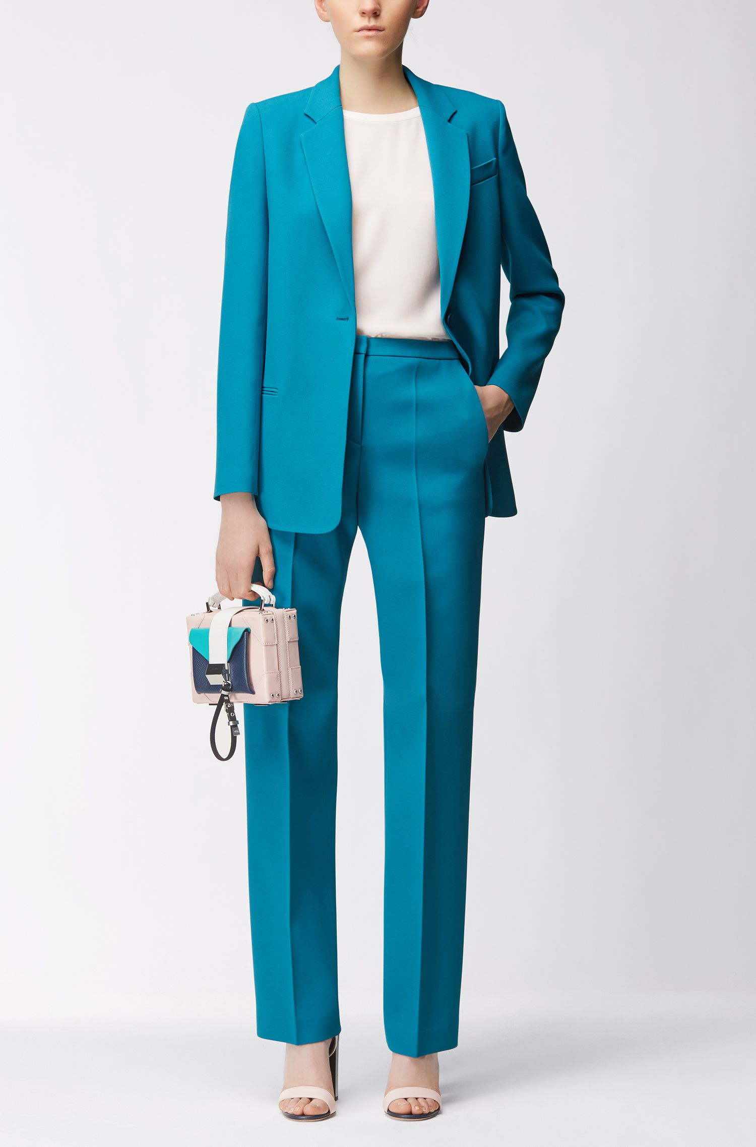 Regular-fit broek met wijde pijpen uit de Gallery Collectie