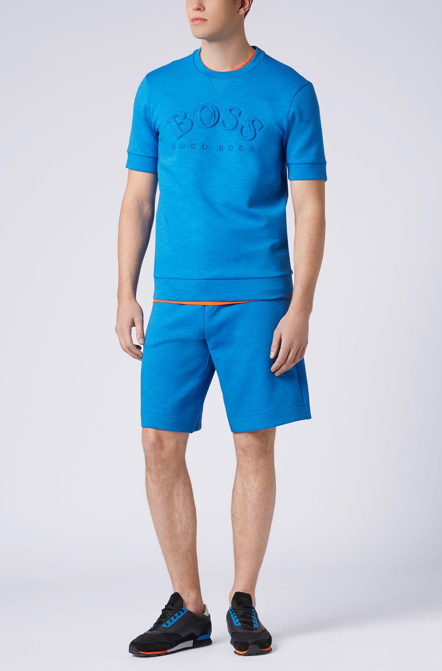 Hugo Boss - Sweatshirt aus Baumwoll-Mix mit kurzen Ärmeln und Logo-Prägung - 2