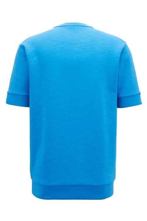 Hugo Boss - Sweatshirt aus Baumwoll-Mix mit kurzen Ärmeln und Logo-Prägung - 3