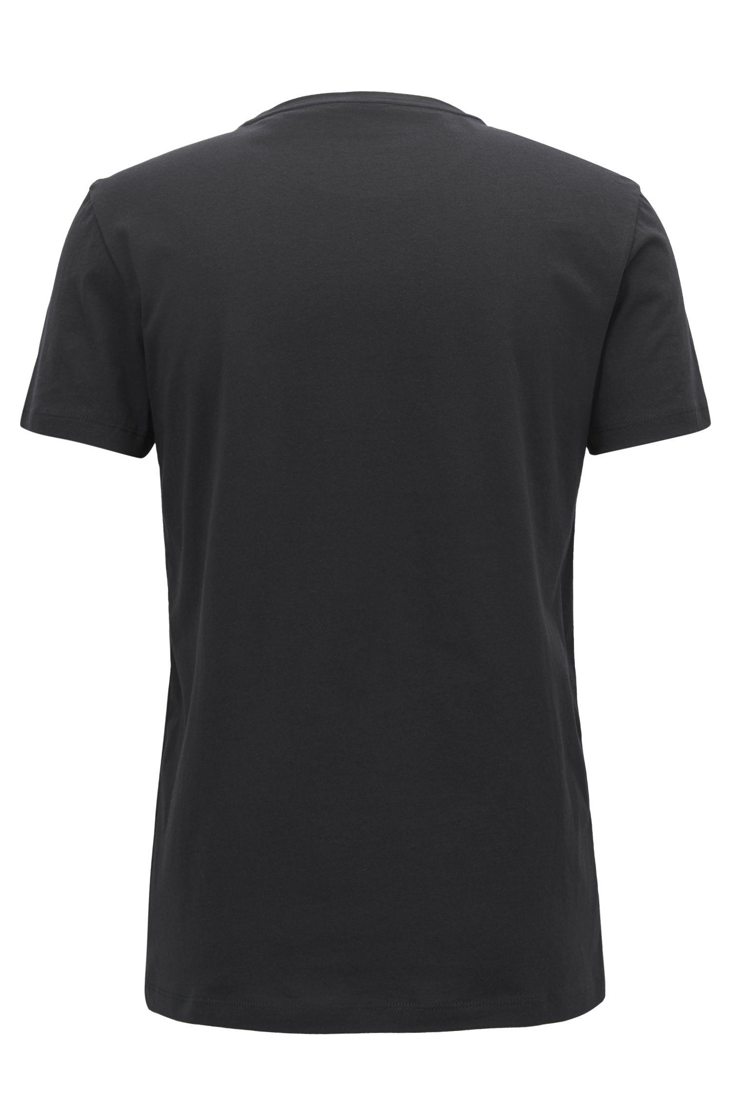 T-shirt van jersey met gevlokt logo in dégradé