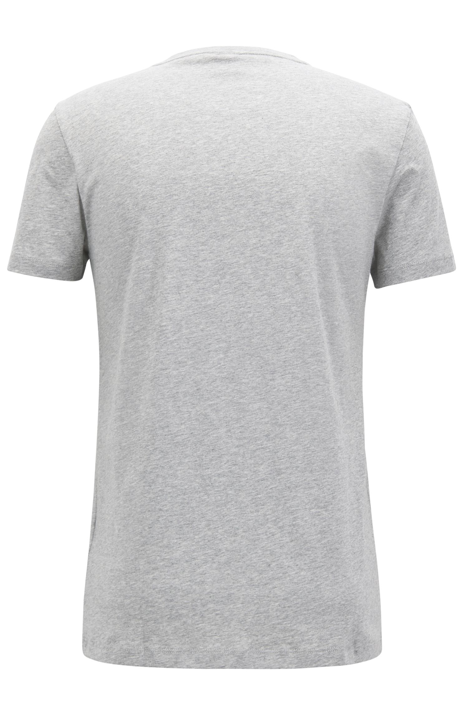Jersey T-shirt with dégradé flocked logo, Grey