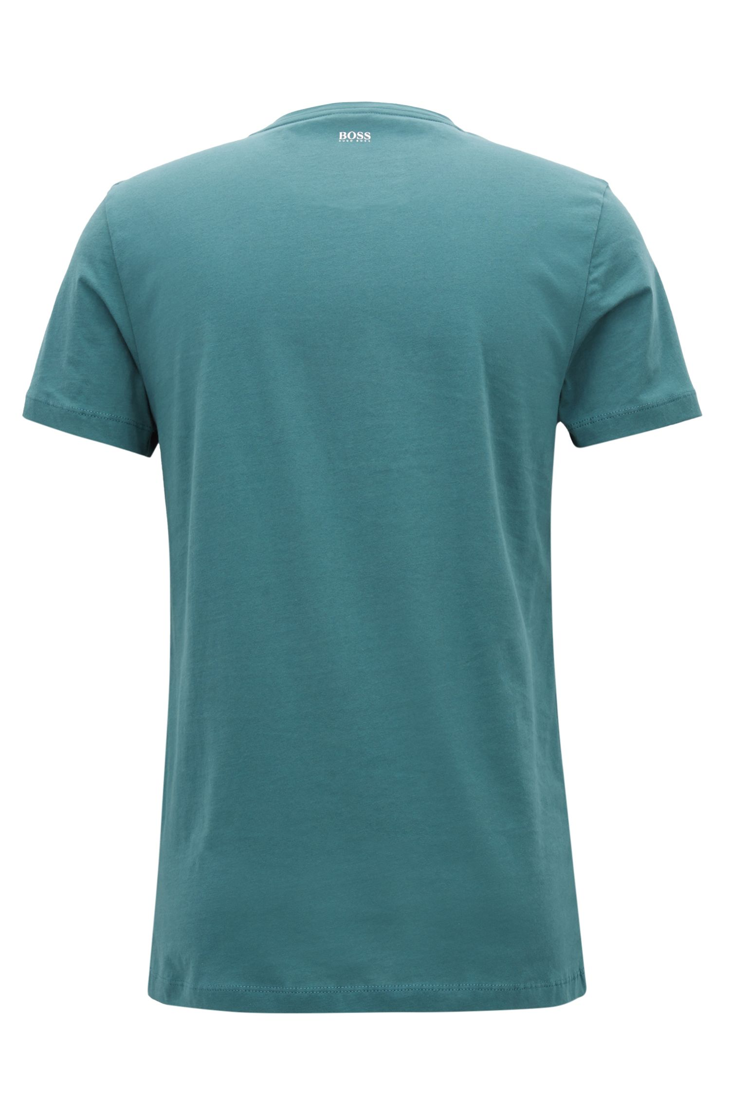 Jersey T-shirt with dégradé flocked logo