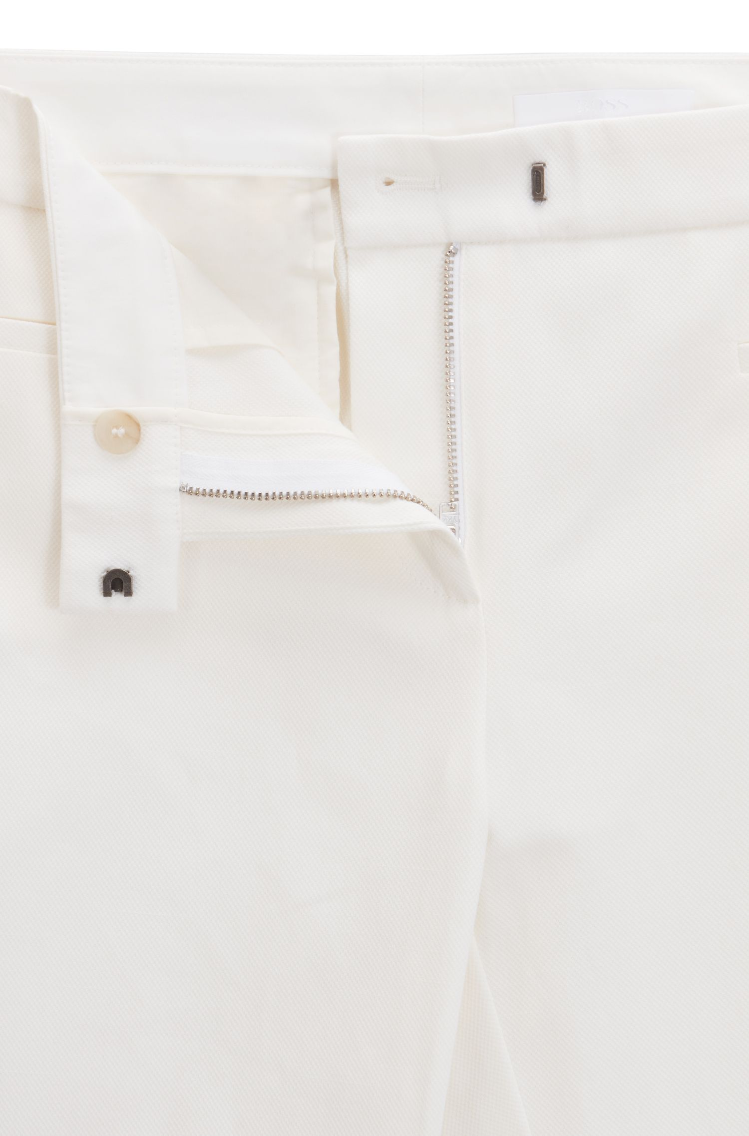 Slim-Fit Hose aus Stretch-Baumwolle in Cropped-Länge