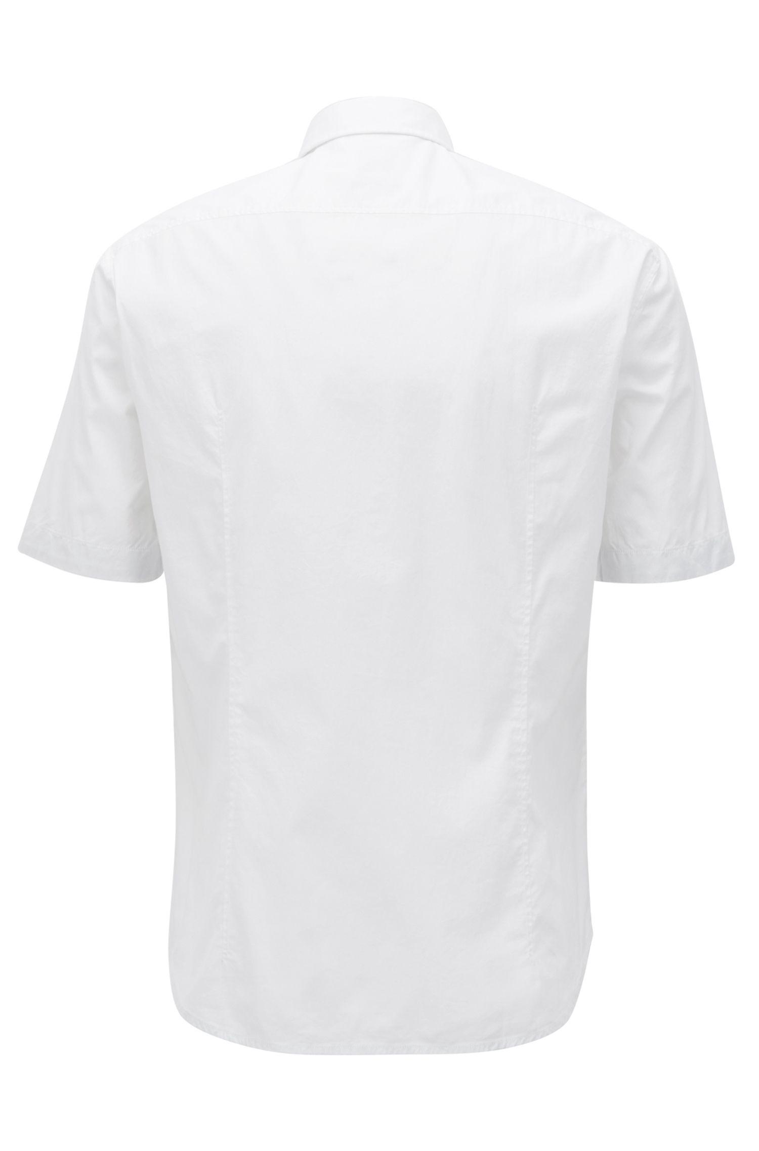 Regular-fit overhemd met korte mouwen en vochtafvoerende eigenschappen, Wit