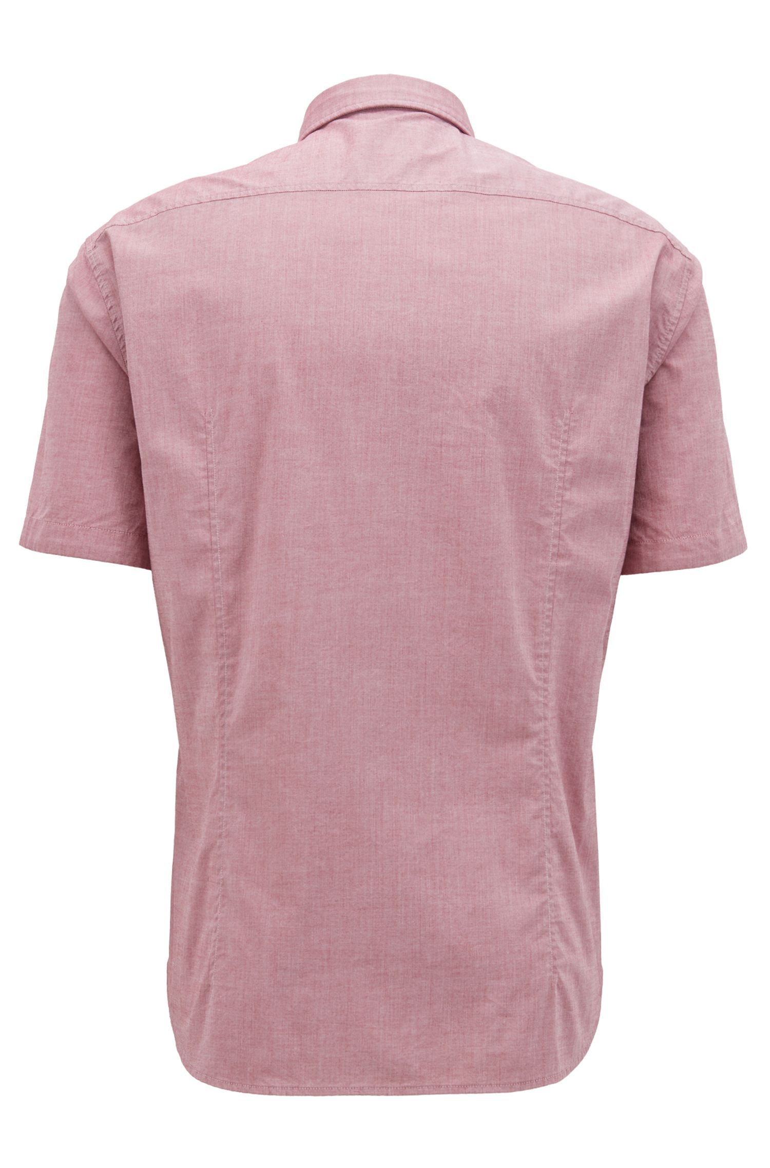 Chemise à manches courtes Regular Fit avec gestion de l'humidité, Rouge sombre