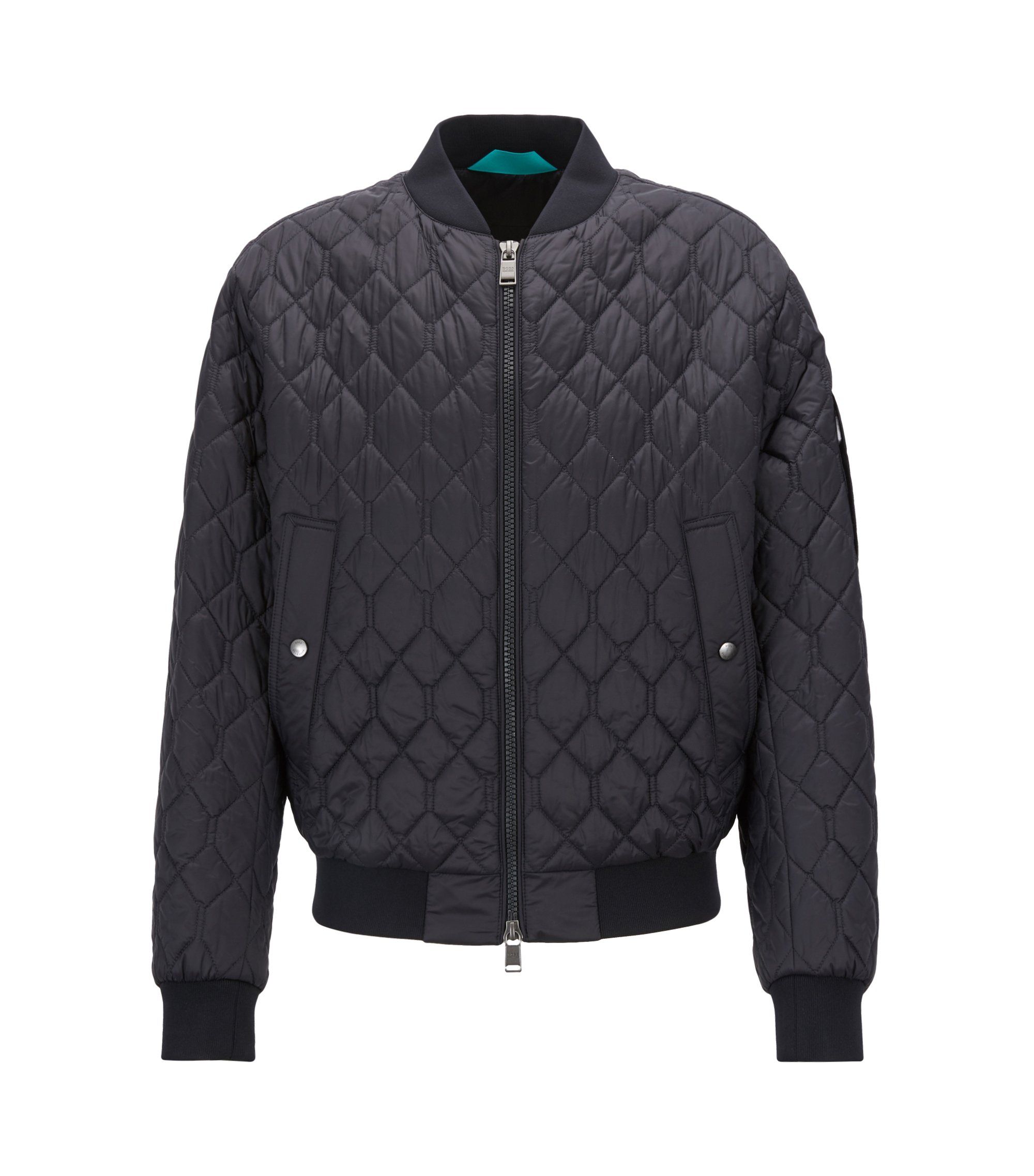 Lightweight blouson jacket in water-repellent quilted fabric, Blue
