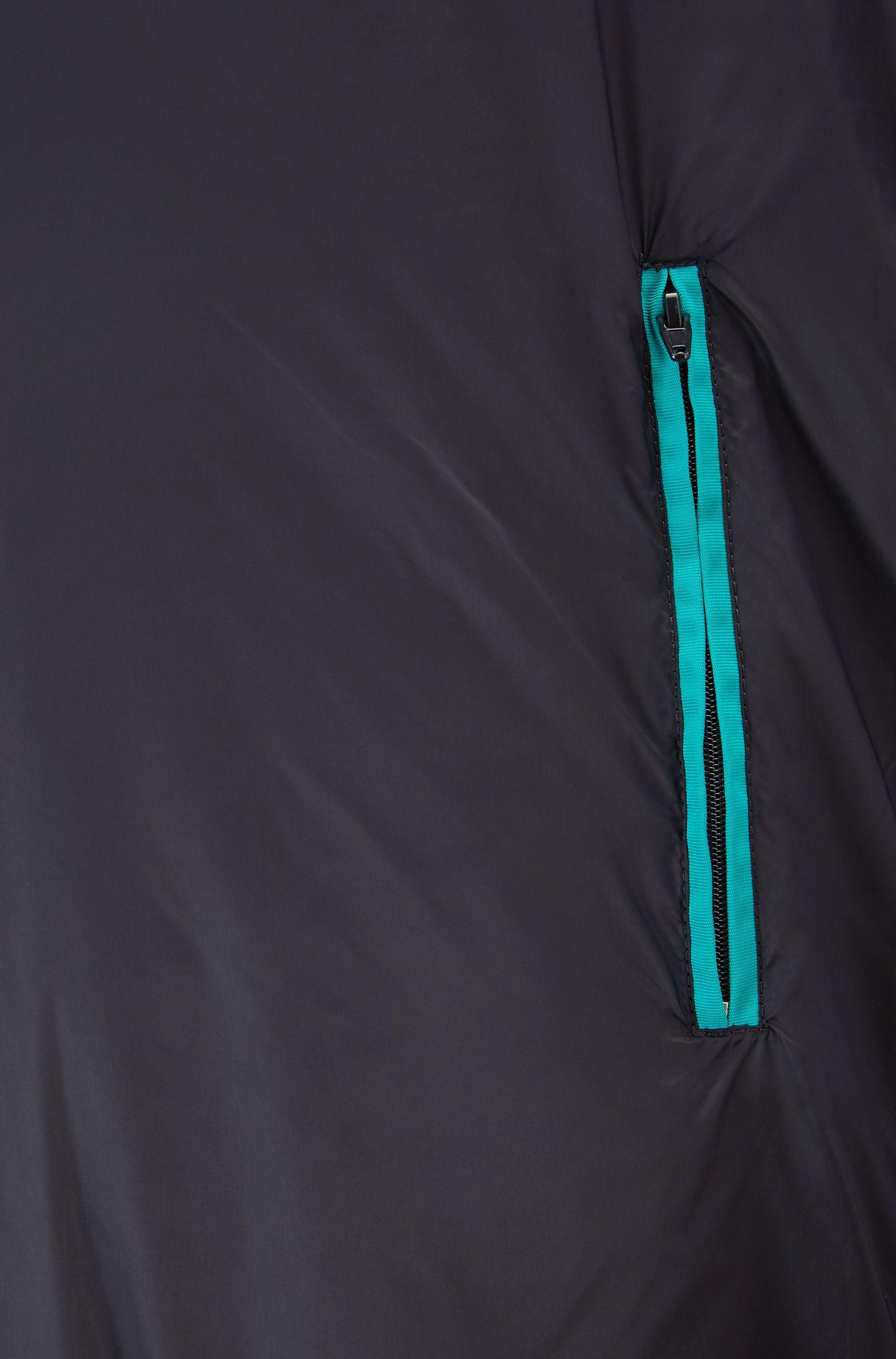 Leichte Bomberjacke aus wasserabweisendem gestepptem Material-Mix, Blau