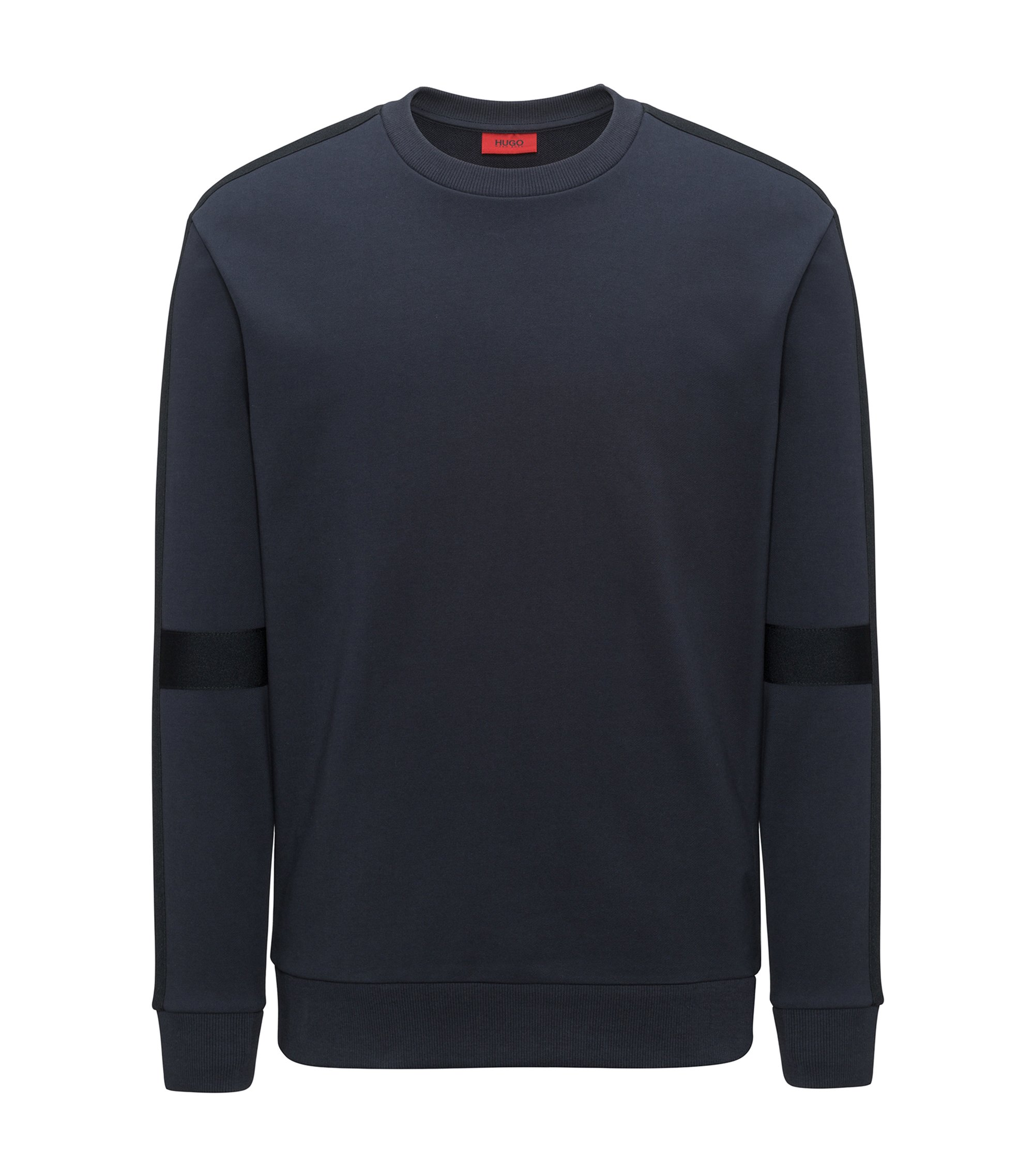 Oversized-fit sweatshirt with tone-on-tone panels, Dark Blue