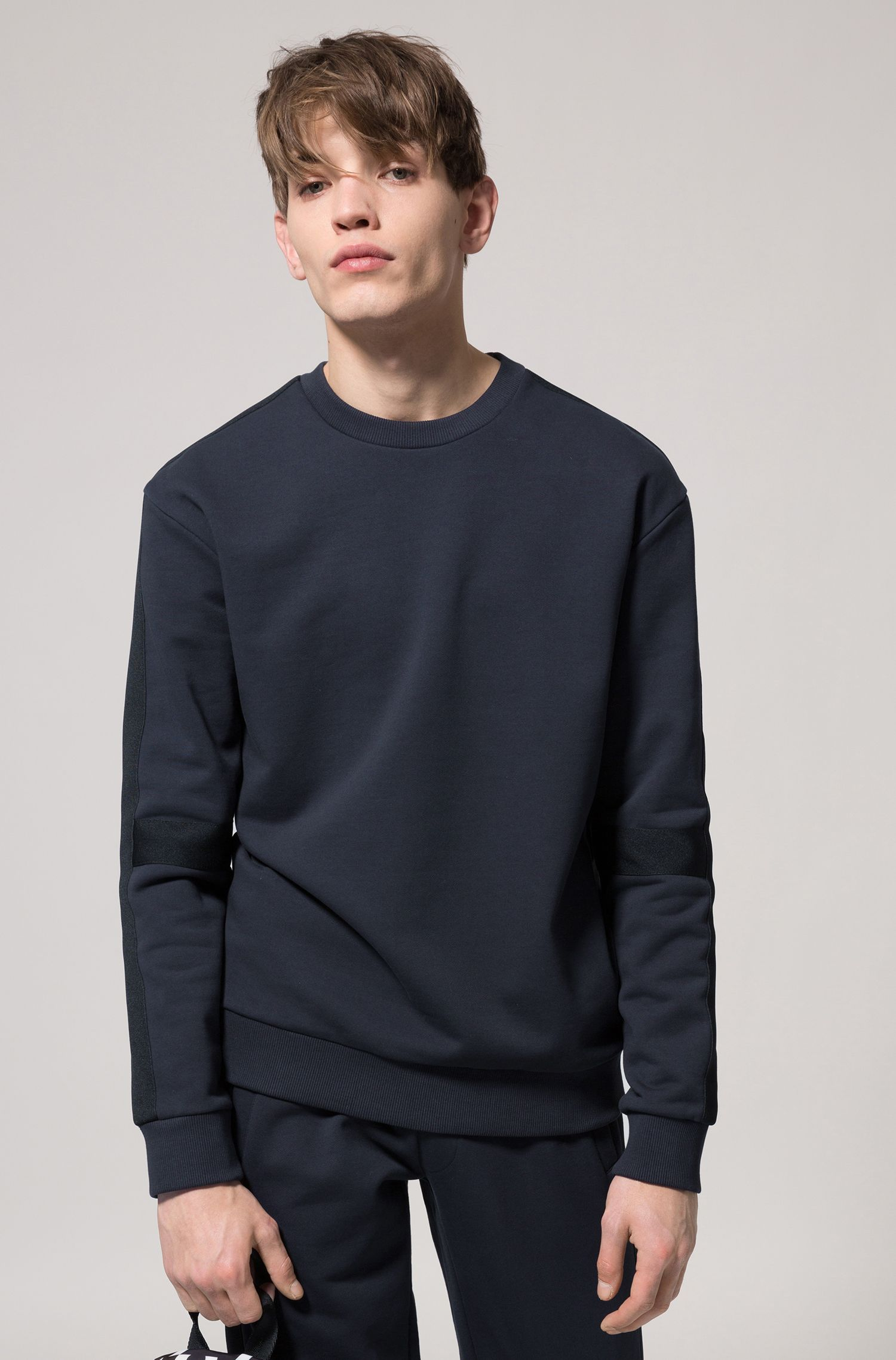 Oversized-fit sweatshirt with tone-on-tone panels