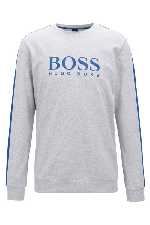 Hugo Boss - Loungewear sweatshirt in French terry with contrast accents - 1