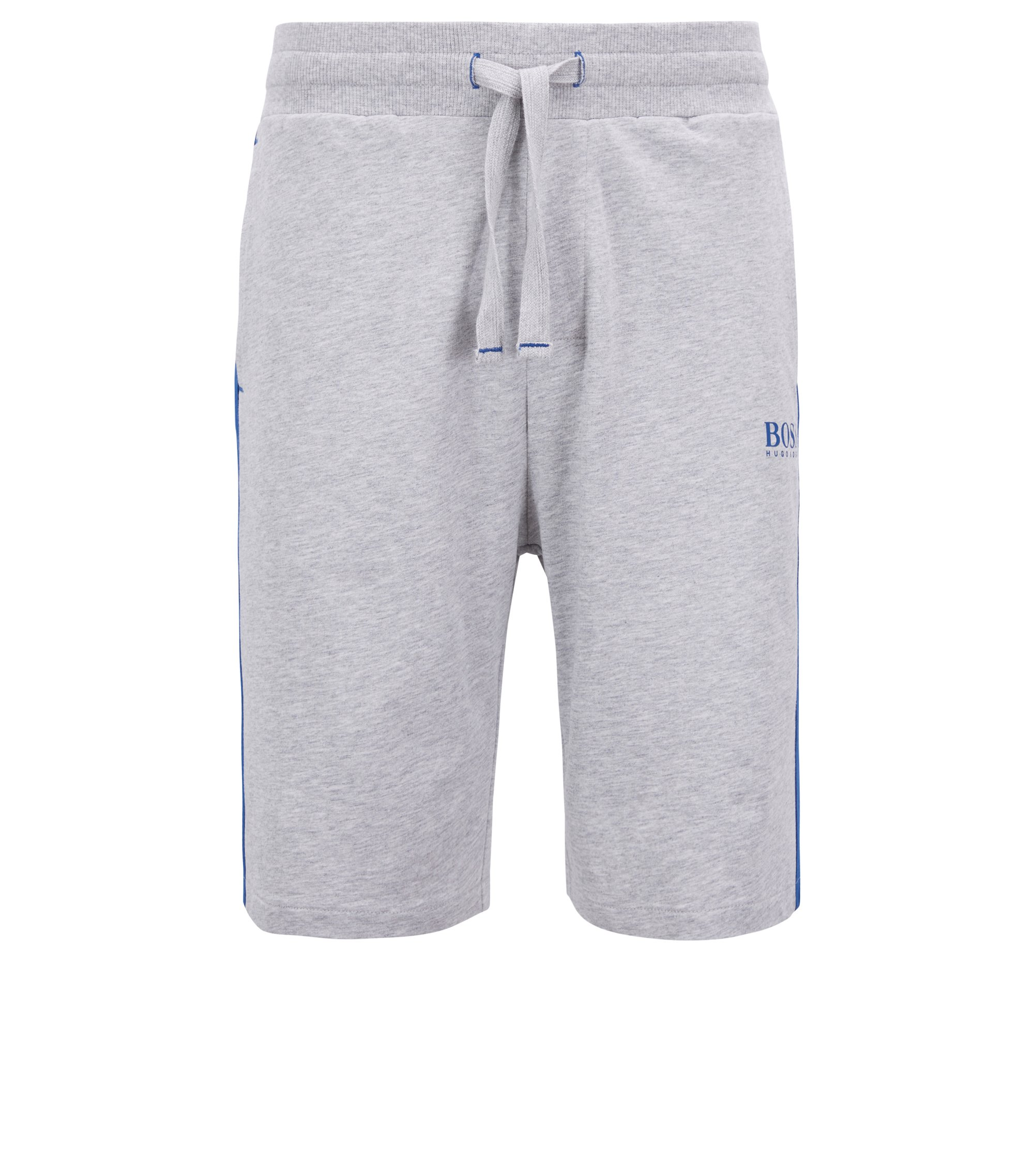 Loungewear shorts in French terry with contrast accents, Grey