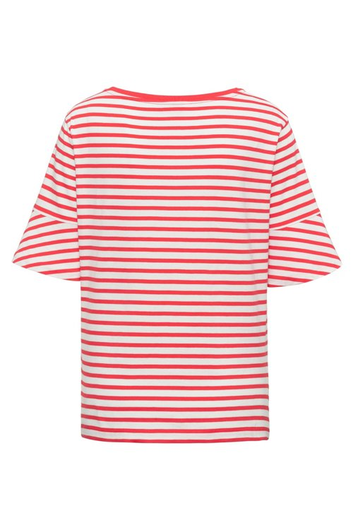 Hugo Boss - Trumpet-sleeve T-shirt in cotton with woven stripe - 4