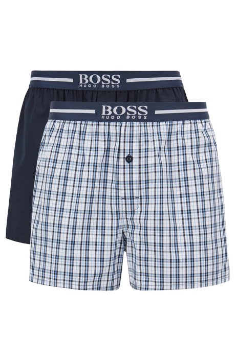 Double pack of boxer shorts in cotton poplin BOSS Sale Outlet Locations Sale Factory Outlet Outlet Newest A8vAp6ud