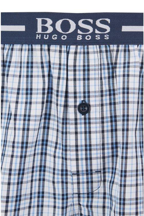Hugo Boss - Two-pack of pyjama shorts in woven cotton poplin - 2
