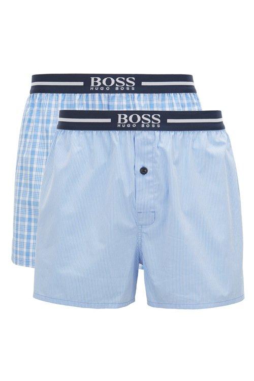 Hugo Boss - Lot de deux shorts de pyjama en popeline de coton tissée - 1